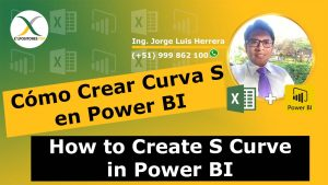 Cómo Crear Curva S en Power BI, How to Create S Curve in Power BI